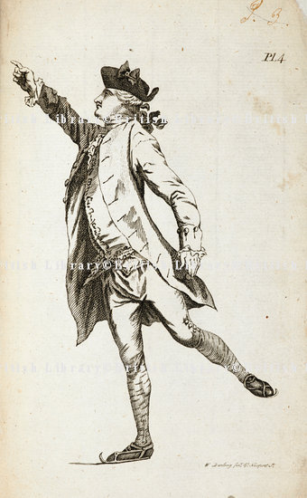 Illustration of The Flying Mercury from Robert Jones's 'A Treatise on Skating'